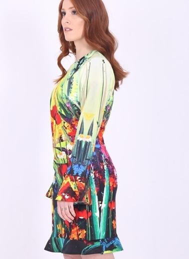 Desenli İspanyol Kol Elbise-Soie Design